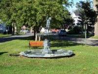 The fountain now resides proudly back in Sherburne!