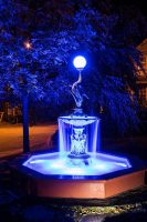 Stunning photo of a customized Single Tier Janney Crane Fountain