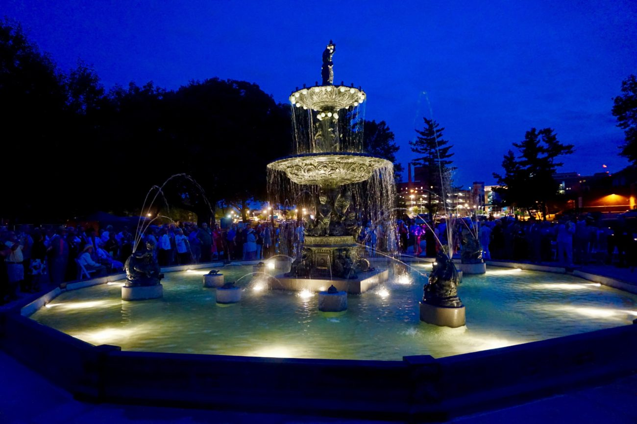 Studebaker Fountain: A Gift of Water and Light
